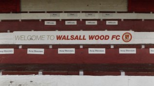 Walsall Wood's famous stand and the hearty welcome the club is famous for. Good start!