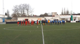 the pre-match customary handshake as two teams prepare to play, and spectators get ready to enjoy the sport that promises to captivate and enthral.