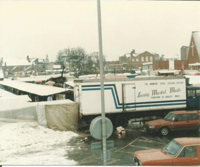 Brownhills market in snow by Gerald 10001