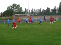 First half and the second, quick fire rifle shot of a goal. Wood now two goals to nil in the lead,
