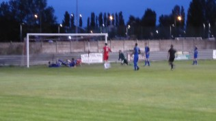 Within a few minutes Walsall Wood score their second goal. Testing time for the Swifts.