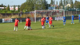 a moment to celebrate scoring that important first goal. South Normanton now had a hard task .