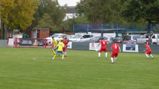 Tividale respond to the Wood's goal as they apply greater pressure in their endeavour to equalise before half time