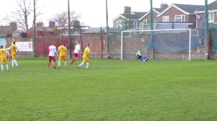 No question about this crack shot. Goal to Gresley .