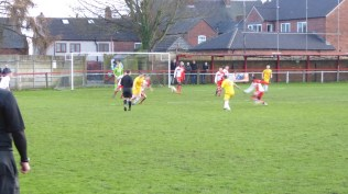 After a player was sent off, Walsall Wood knew the demands would be heavy. In the second half, again, following vocal outburst from the home players, a second Wood player was sent off. I lost count of the number of yellow cards issued, but seem to recall the increasing frequency and number awarded to the home side in the later stages of the game.