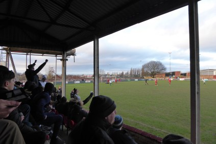 later in the second half and the visitors score the equalising goal.