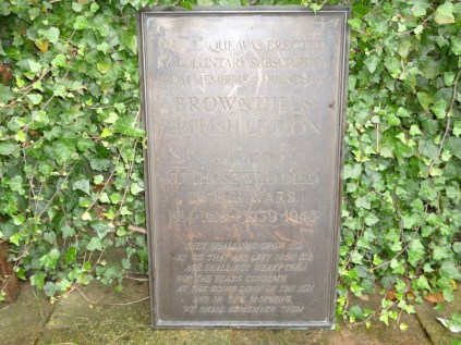 The lost plaque, as it was found. Image kindly supplied by David Evans.