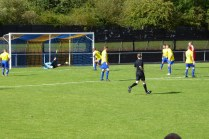 Second half,and Khalsa goalkeeper makes a fine save
