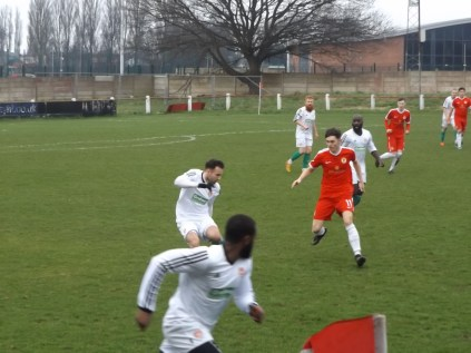 Hirsuit Coventry players in hot pursuit. Super play by both teams who gave a fine performance of meaningful soccer today