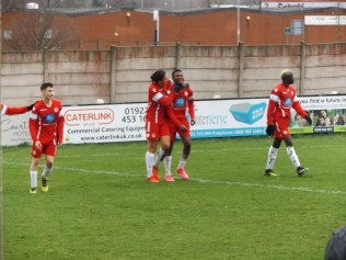 That magic moment of sheer elation when you score a sweet, sweet goal. Number four to the Wood