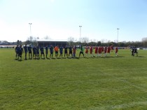 Long Eaton played in their all blue strip for todays' sporting encounter