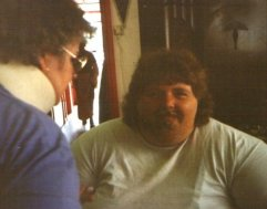 1993: Sue Capewll having her beard put on