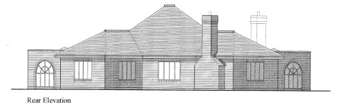 Proposed bungalow: rear elevation