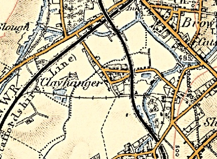 Clayhanger, from the Ordnance Survey 1902 edition