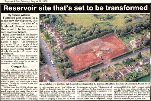 From the Express & Star, 31st August 2009. Click on the article for a full-size version