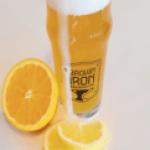 brown iron beer with orange