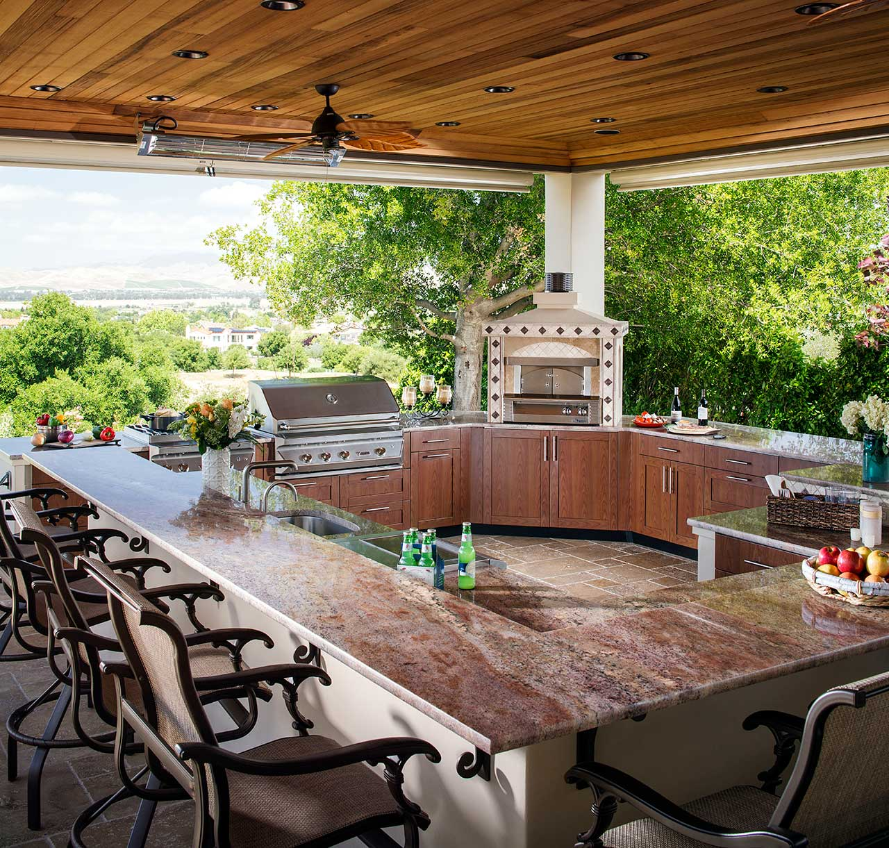 Outdoor Kitchen Ideas | Brown Jordan Outdoor Kitchens on Patio Kitchen  id=50077