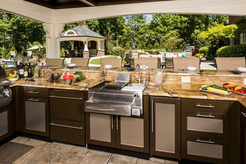 Best Outdoor Kitchen Countertop Ideas and Materials on Kitchen Counter Top Decor  id=53486