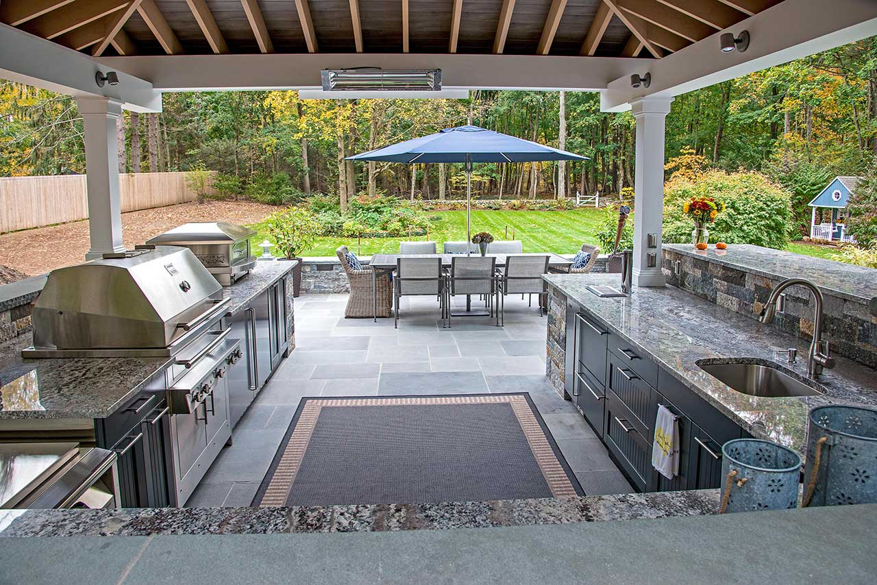 Covered Outdoor Kitchen Ideas & Things to Consider on Covered Outdoor Kitchen With Fireplace id=53970