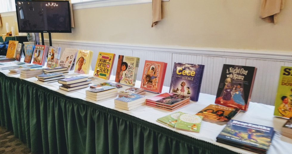 Brown Reads Bookshelf at Brown Kids Read Event