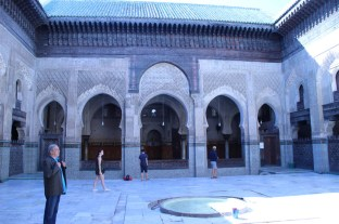 My tour guide in the madrasa courtyard