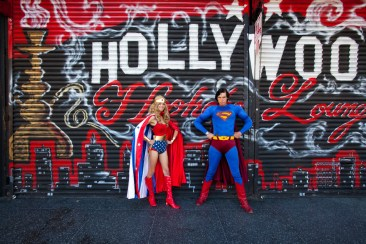 Superhero impersonators, Hollywood Boulevard