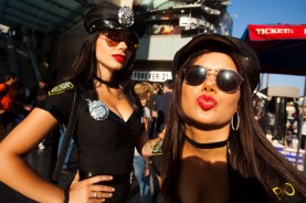 Performers dressed as cops, Hollywood Boulevard