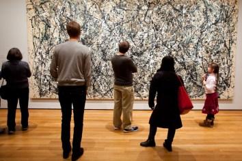 Jaskson Pollack painting, Museum of Modern Art, Manhattan, New York City, New York, USA