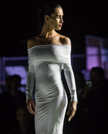 Model on the runway, Style Fashion Week, Pacific Design Center, March 9, 2017