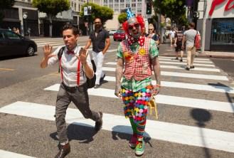 Clown, Hollywood Boulevard, Hollywood, Los Angeles, California, USA