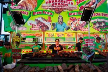 Barbeque stand, Los Angeles County Fair, Pomona Fairplex, Pomona, California, USA