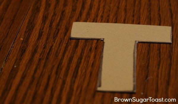 Monogram Glitter Ornament Brown Sugar Toast