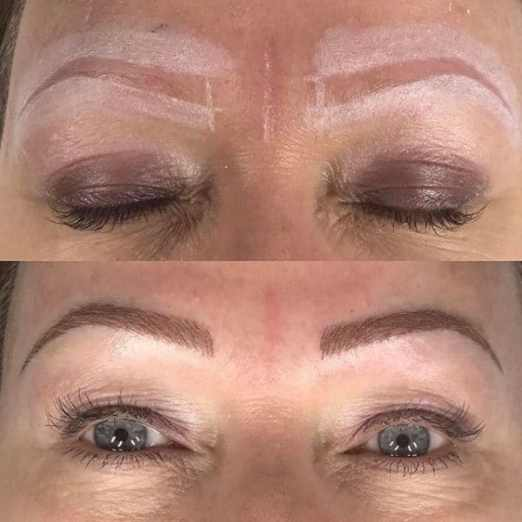 Cindy shaping and after microblading