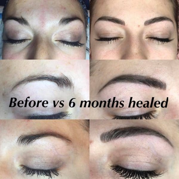 Microblading healing process 6 months healed