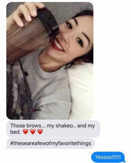 Microblading review with selfie