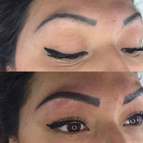 Microblading after picture with shading