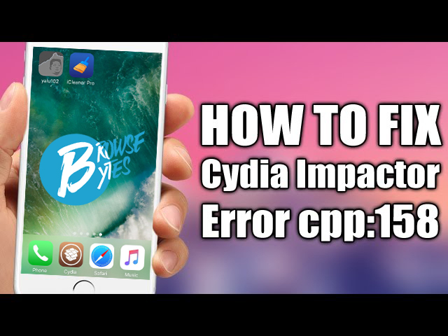 How To Fix http-win cpp:158 Cydia Impactor Error On Windows For iOS