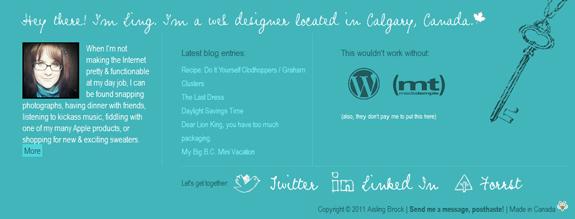 Aisy - Website Footer Design