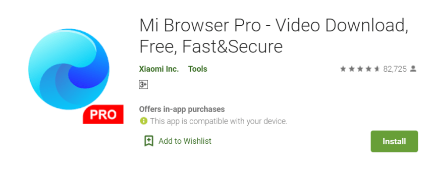 Mi Browser Pro for Mac