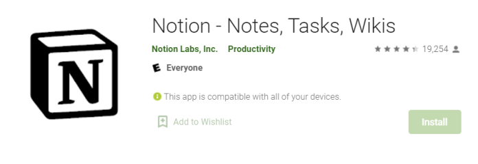 Notion Notes for Mac