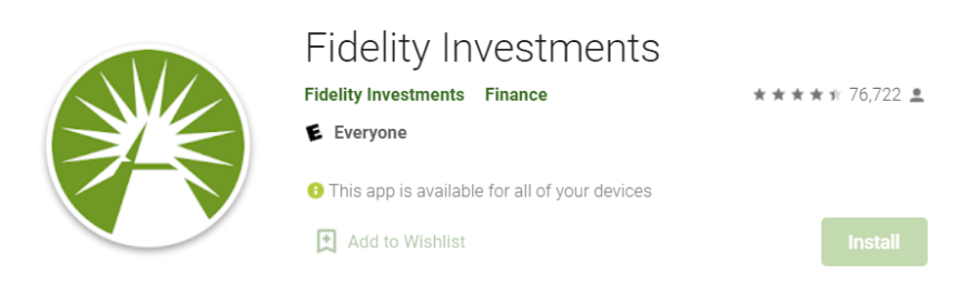 Fidelity Investment for Mac