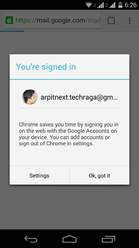 chrome-simple-signin-android