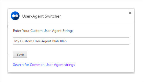 User-Agent Switcher Chrome Extension