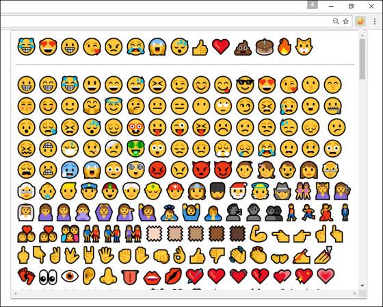 emoji chrome canary windows