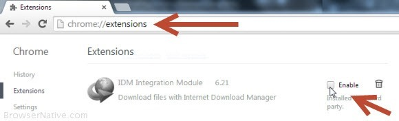 Idm extension for google chrome enable idm integration module in chrome ccuart Image collections