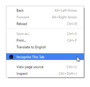 incognito mode extension