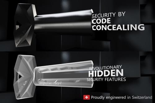 StealthKey 3Dプリンター対策をした形状が見えない鍵