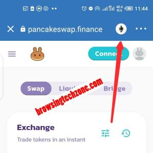 connect trust wallet to pancake swap