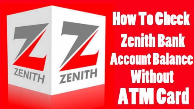 How to check Zenith bank account balance without ATM card
