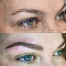 Microblading done by Pretty In Ink in Kansas City Missouri